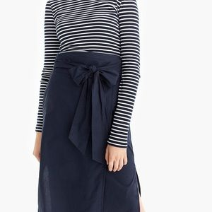 J.CREW Cotton Wrap Pencil Skirt